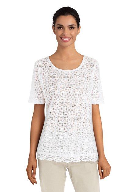 Wit T-shirt met kanten voorkant
