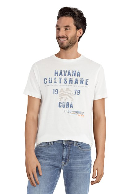 Wit T-shirt met print