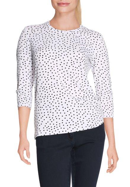 Wit T-shirt met zwarte bolletjes