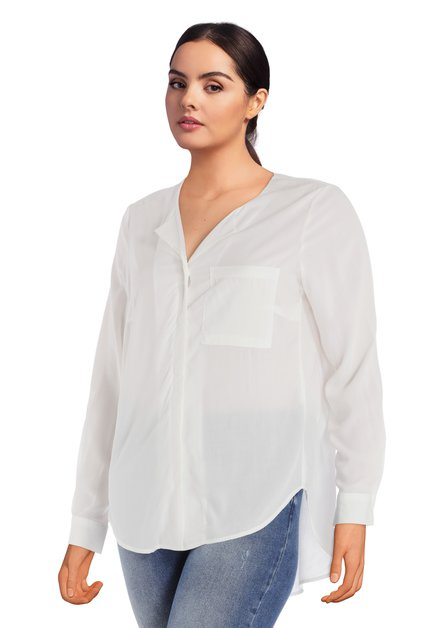 Witte blouse in viscose