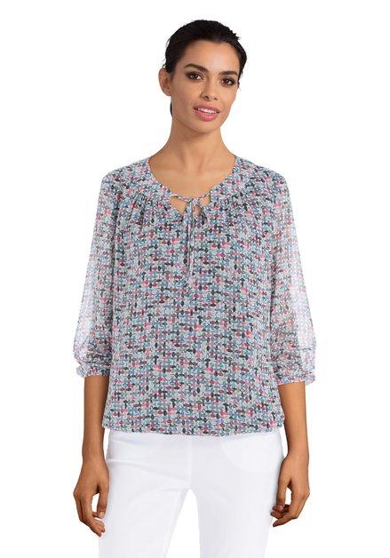 Witte blouse met abstracte en kleurrijke print