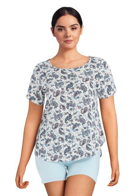 Witte blouse met paisleyprint