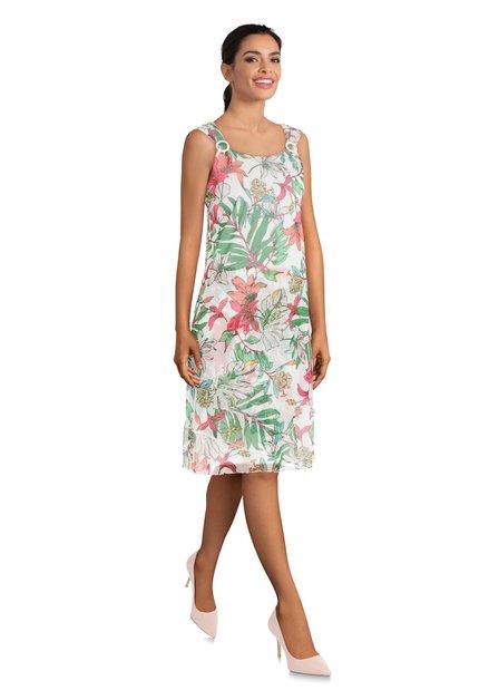 Witte jurk met tropische print