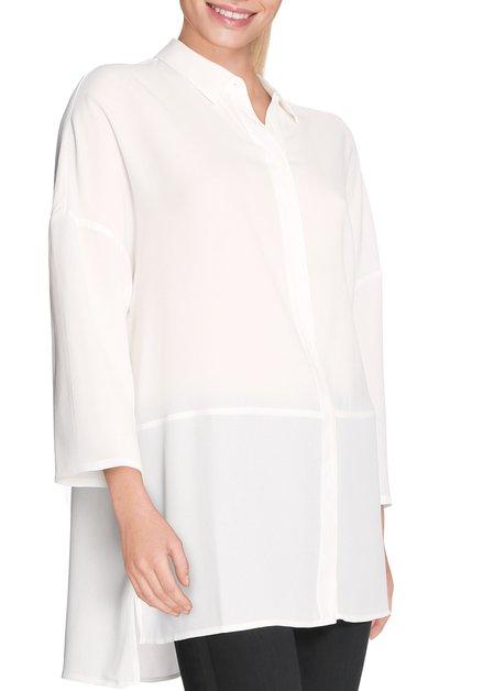 Witte oversized bloes in soepel viscose