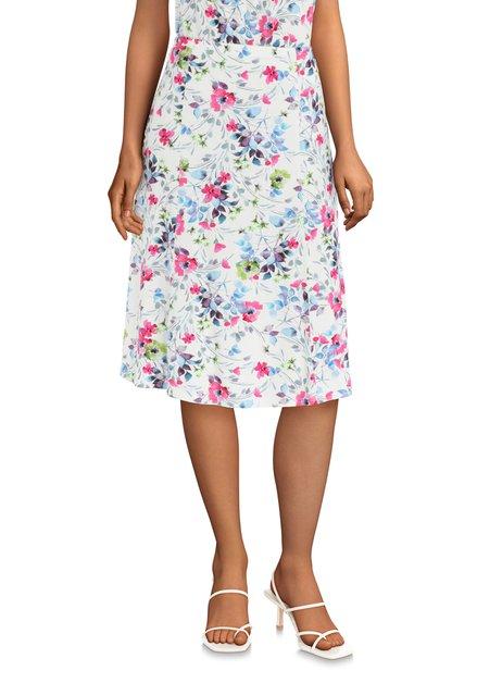 Witte rok met kleurrijke bloemenprint