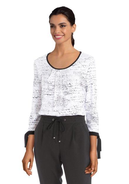 Witte T-shirt met zwarte print