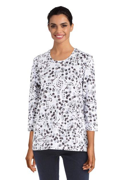 Witte T-shirt met zwarte stippen
