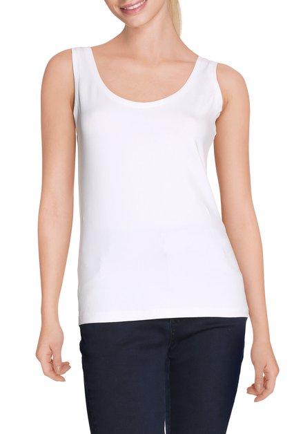 Witte top in soepel jersey