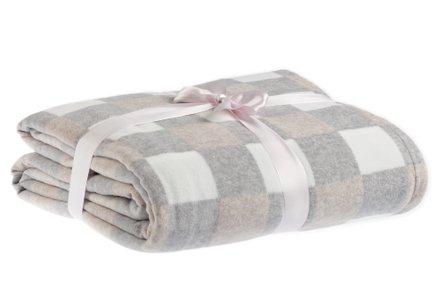 Zacht deken met grijze ruiten