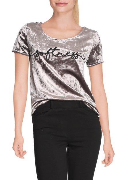 Zilverkleurig fluwelen T-shirt