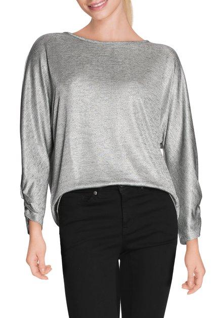 Zilverkleurig T-shirt met vleermuismouwen