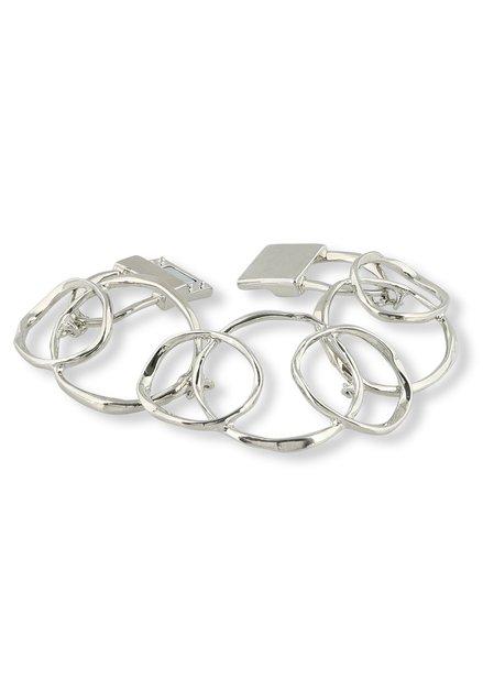 Zilverkleurige armband met cirkels
