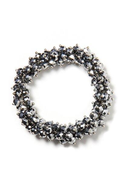 Zilverkleurige elastische armband
