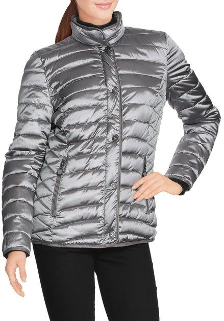 Zilverkleurige gematelasseerde jas