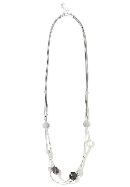 Zilverkleurige lange ketting