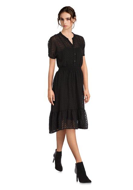 Zwart bohemien-chic kleed