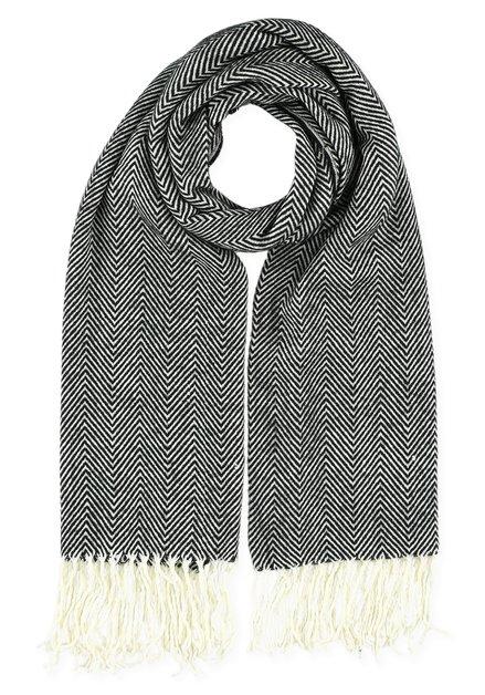 Zwart en witte sjaal