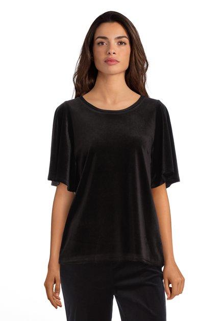 Zwart fluwelen T-shirt
