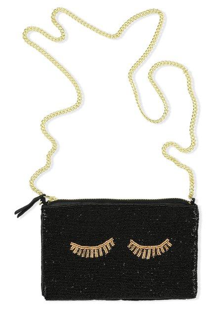 Zwart handtasje met parels