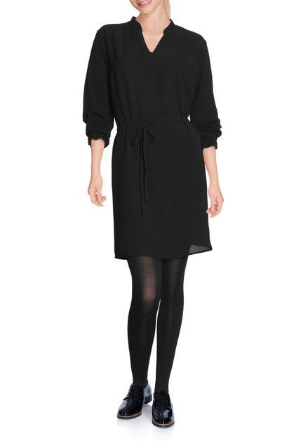 Zwart kleed in crêpe