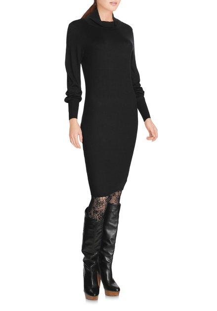 Zwart kleed in fijn tricot