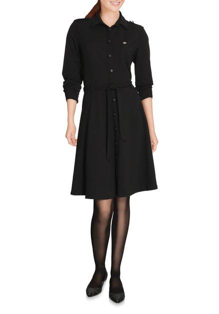 Zwart kleed met militaire look