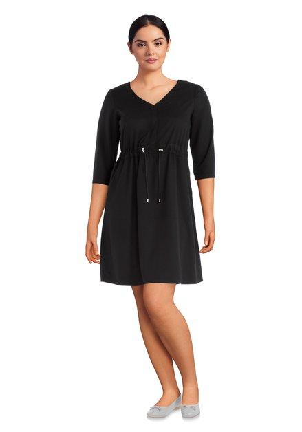 Zwart sportief kleed met V-hals