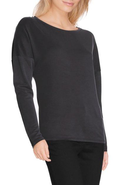 Zwart T-shirt in modal