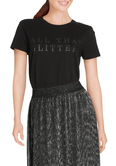 Zwart T-shirt met glitterprint