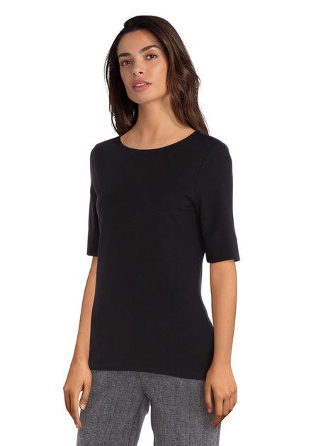 Zwart T-shirt met modal