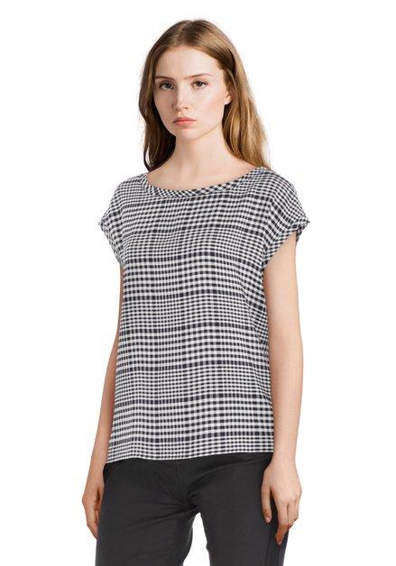 Zwart-wit geruite blouse