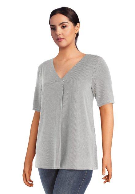Zwart-wit gestreept T-shirt met korte mouwen