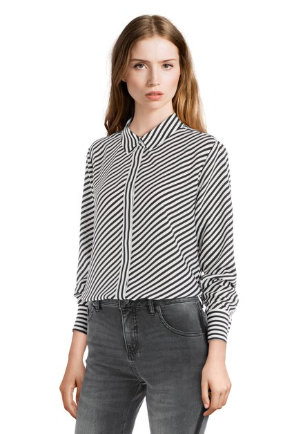 Zwart-wit gestreepte blouse
