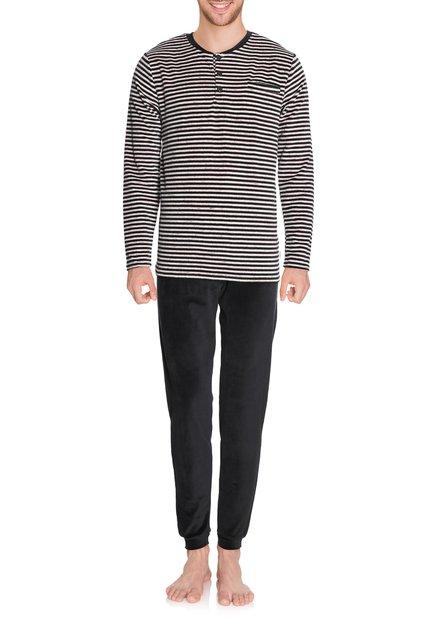 Zwart-wit gestreepte pyjama