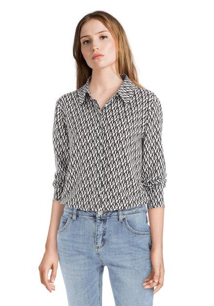 Zwart-witte blouse 'Love'
