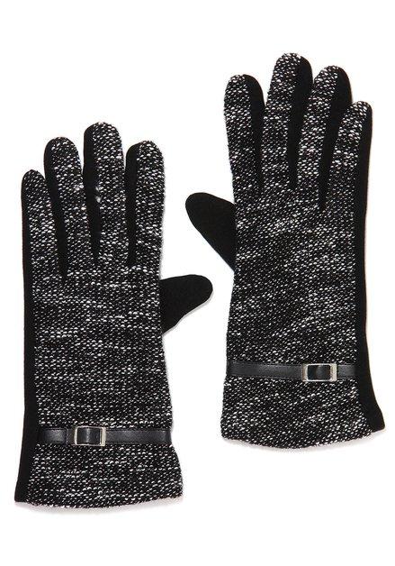 Zwart-witte handschoenen in stof