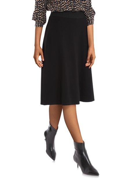 Zwarte A-lijn rok met elastische tailleband