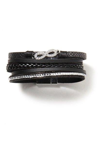 Zwarte armband met magneetje