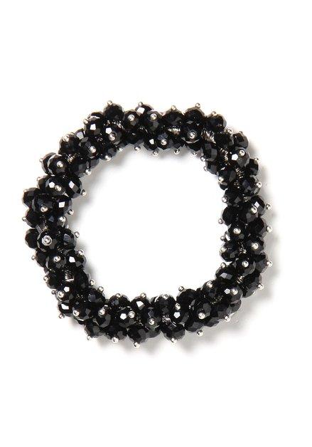 Zwarte armband met parels