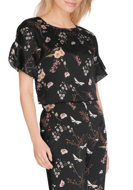 Zwarte bloes met oriëntaalse print
