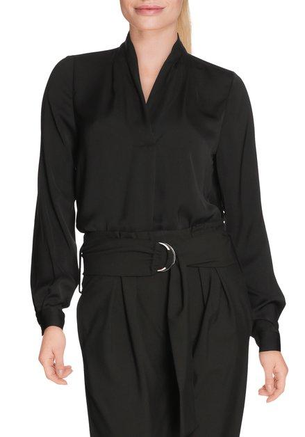 Zwarte bloes met v-hals