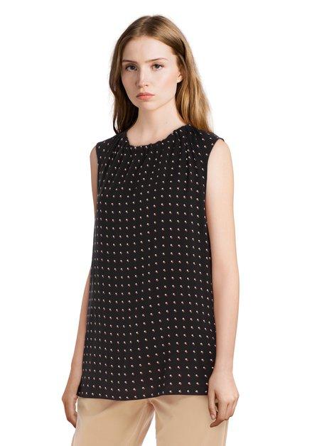 Zwarte blouse met stipjes