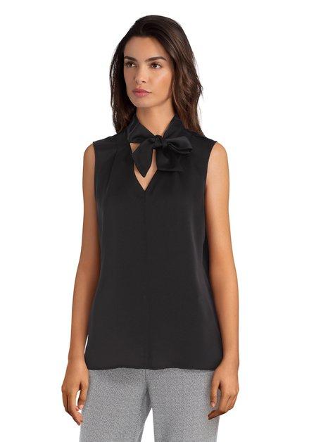 Zwarte blouse met strik