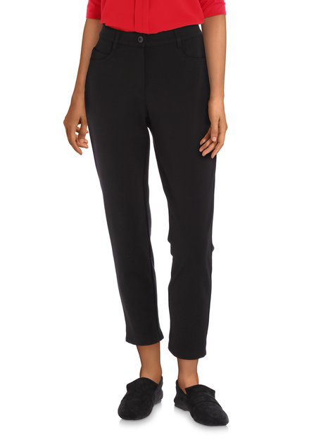 Zwarte broek in stretch - slim fit