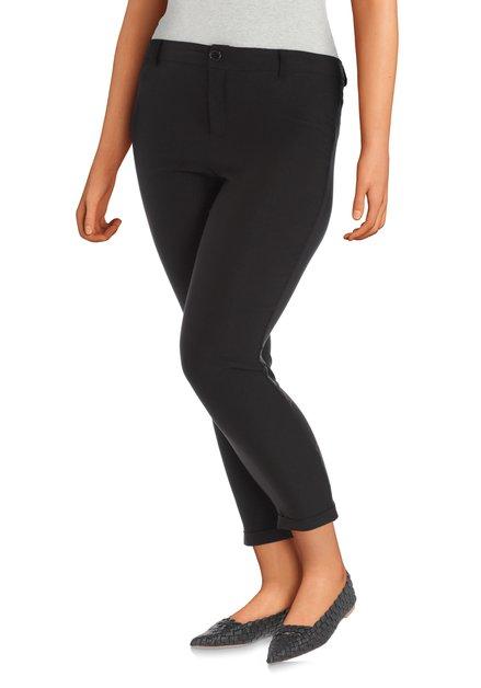 Zwarte broek in stretchstof - slim fit