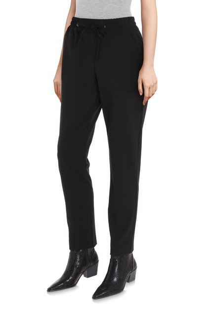 Zwarte broek met elastische taille - slim fit