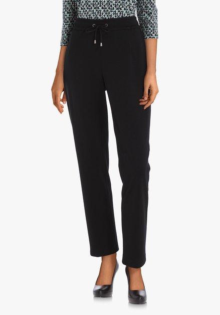 Zwarte broek met jogginglook – slim fit