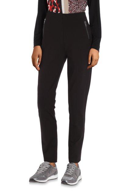 Zwarte broek met ritsen - slim fit
