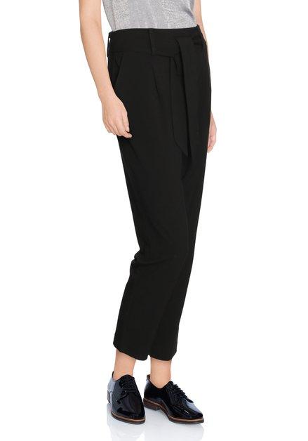 Zwarte broek met striklint