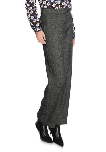 Zwarte broek met witte spikkel - straight fit